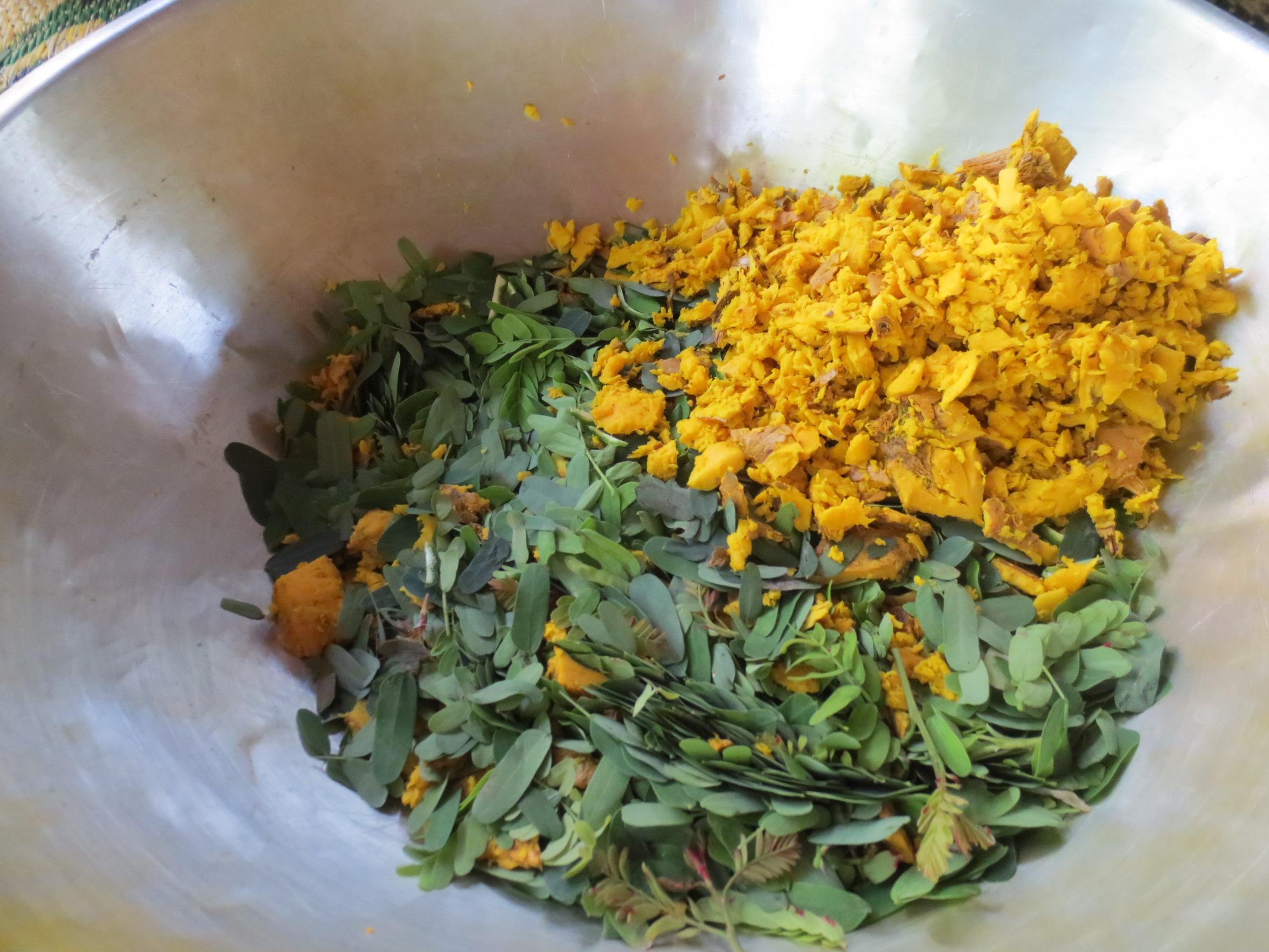 freshly ground thai herbs
